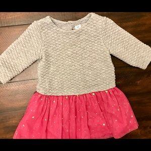 Gap sweater dress with sparkly stars tutu skirt